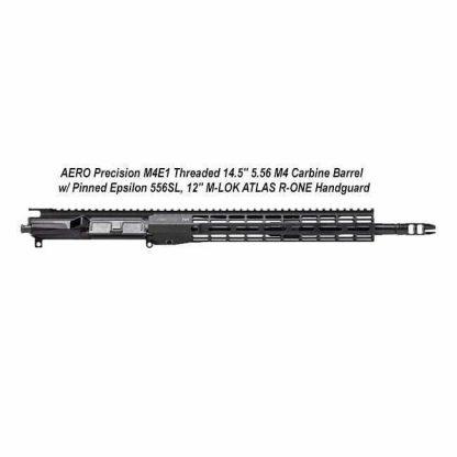 "AERO Precision M4E1 Threaded 14.5"" 5.56 M4 Carbine Barrel w/ Pinned Epsilon 556SL, 12"" M-LOK ATLAS R-ONE Handguard, APAR700704M67, in Stock, For Sale"