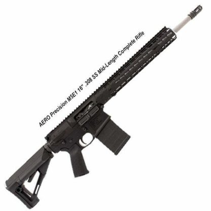 "AERO Precision M5E1 16"" .308 SS Mid-Length Complete Rifle, Black, APPG308033, in Stock, For Sale"