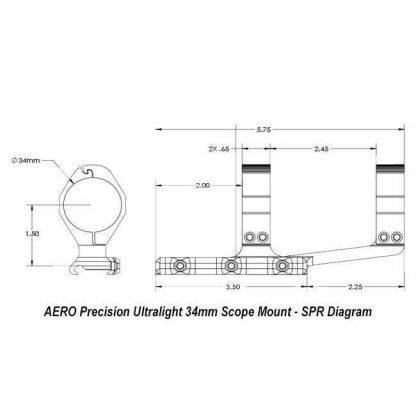 AERO Precision Ultralight 34mm Scope Mount - SPR, Diagram
