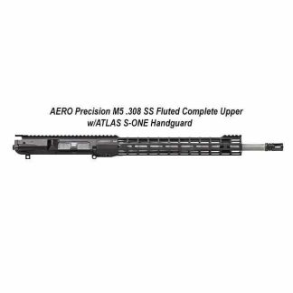 AERO Precision M5 .308 SS Fluted Complete Upper w/ATLAS S-ONE Handguard, 18 in, Black, APAR538105M69, 00815421028607, in Stock, For Sale