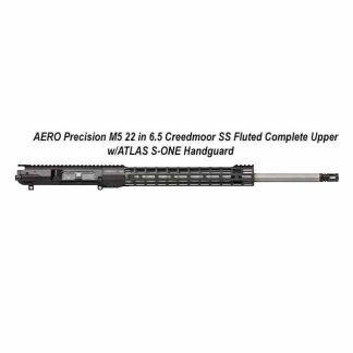 AERO Precision M5 6.5 Creedmoor SS Fluted Complete Upper w/ATLAS S-ONE Handguard, 22 inch, Black, APAR538105M70 in Stock, For Sale