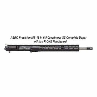AERO Precision M5 6.5 Creedmoor SS Complete Upper w/Atlas R-ONE Handguard, 18 in, Black, APAR538705M44, 0084001460989518 inch, Black, in Stock, For Sale