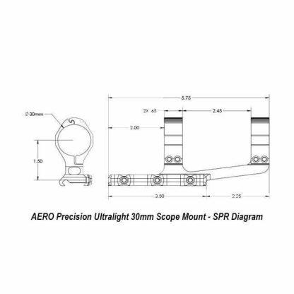 AERO Precision Ultralight 30mm Scope Mount - SPR Diagram