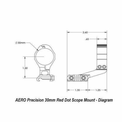 AERO Precision 30mm Red Dot Scope Mount