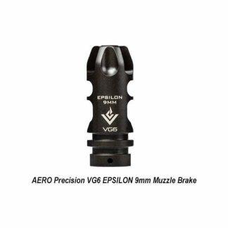 AERO Precision VG6 EPSILON 9mm Muzzle Brake, APVG100023A, 00815421026221, in Stock, for Sale in Stock, on Sale
