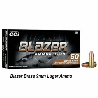 Blazer Brass 9mm Luger Ammo, 5200, 076683052001, in Stock, for Sale