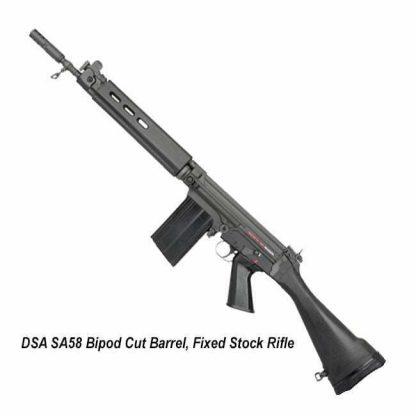 DSA SA58 Bipod Cut Barrel, Fixed Stock Rifle, SA5816C-A, in Stock, for Sale