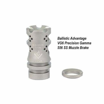 Ballistic Advantage VG6 Precision Gamma 556 SS Muzzle Brake, BAMD100008, in Stock, for Sale