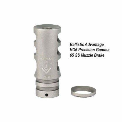 Ballistic Advantage VG6 Precision Gamma 65 SS Muzzle Brake, BAMD100011, in Stock, for Sale