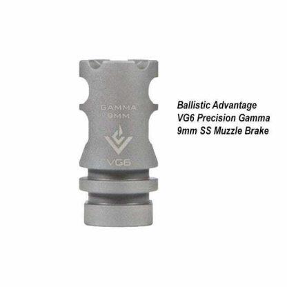 Ballistic Advantage VG6 Precision Gamma 9mm SS Muzzle Brake, BAMD100021, in Stock, for Sale