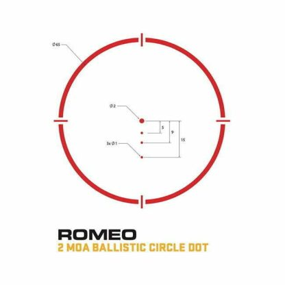 Sig Sauer 2MOA Ballistic Circle Dot Reticle
