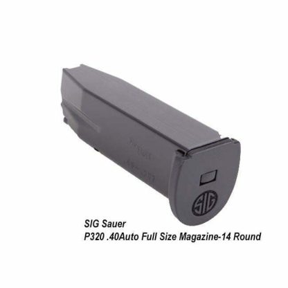SIG Sauer P320 .40Auto Full Size Magazine, 14 Round, MAG-MOD-F-43-14, 798681505142, in Stock, on Sale