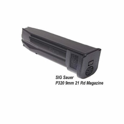 SIG Sauer P320 9mm 21 Rd Magazine, Black, MAG-MOD-F-9-21, 798681555253, in Stock, on Sale